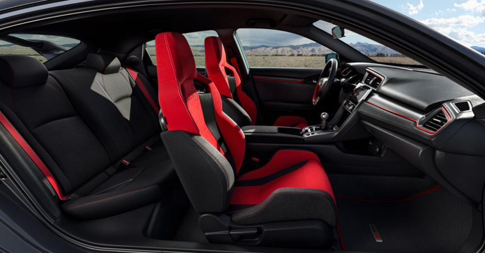 El interior del Honda Civic Type R 2018