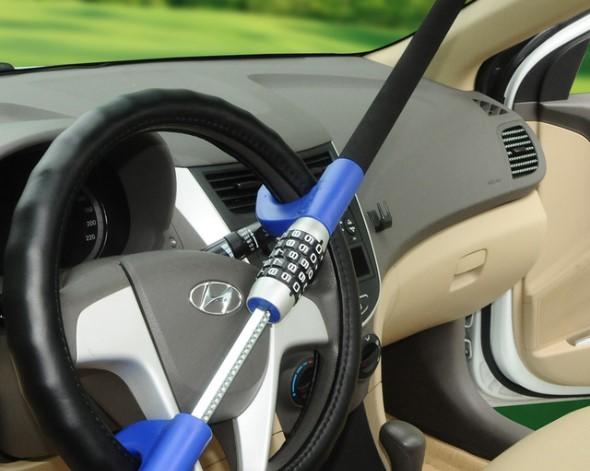 Impedir robos de coches con cerradura del volante o cerradura de rueda alarmas para autos