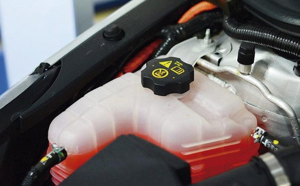 líquido refrigerante para autos parte interior de coche