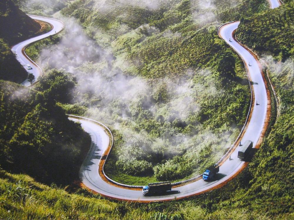 pendientes, carretera peligrosa
