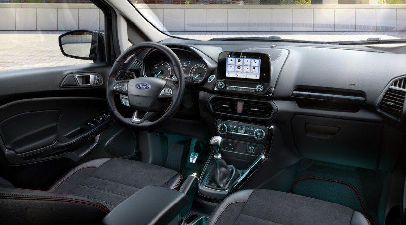 Interior de la Ford EcoSport 2018