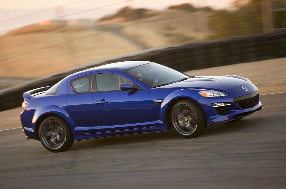 El Mazda RX-8 fue el último auto de producción en utilizar un motor Wankel