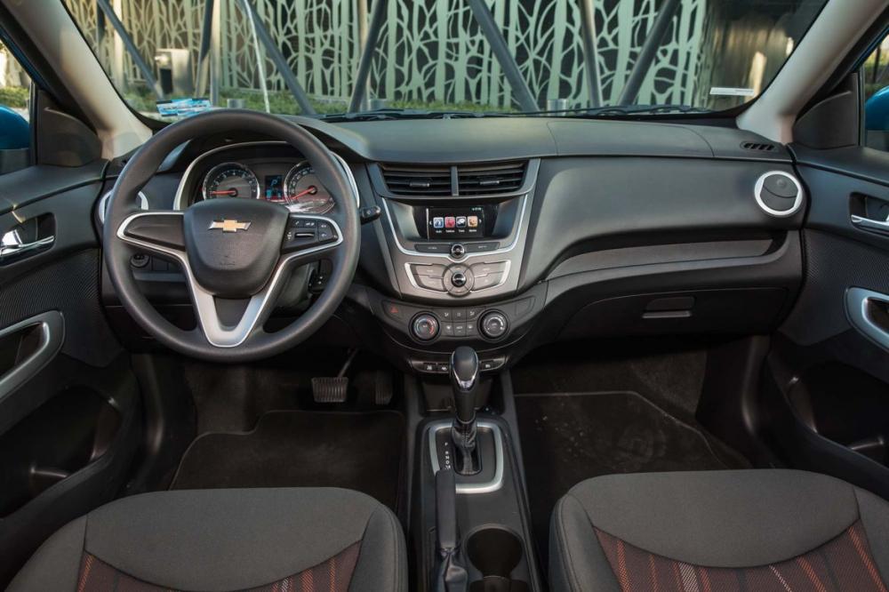 Comparación del interior Chevrolet Aveo 2018 vs. Hyundai Accent 2018