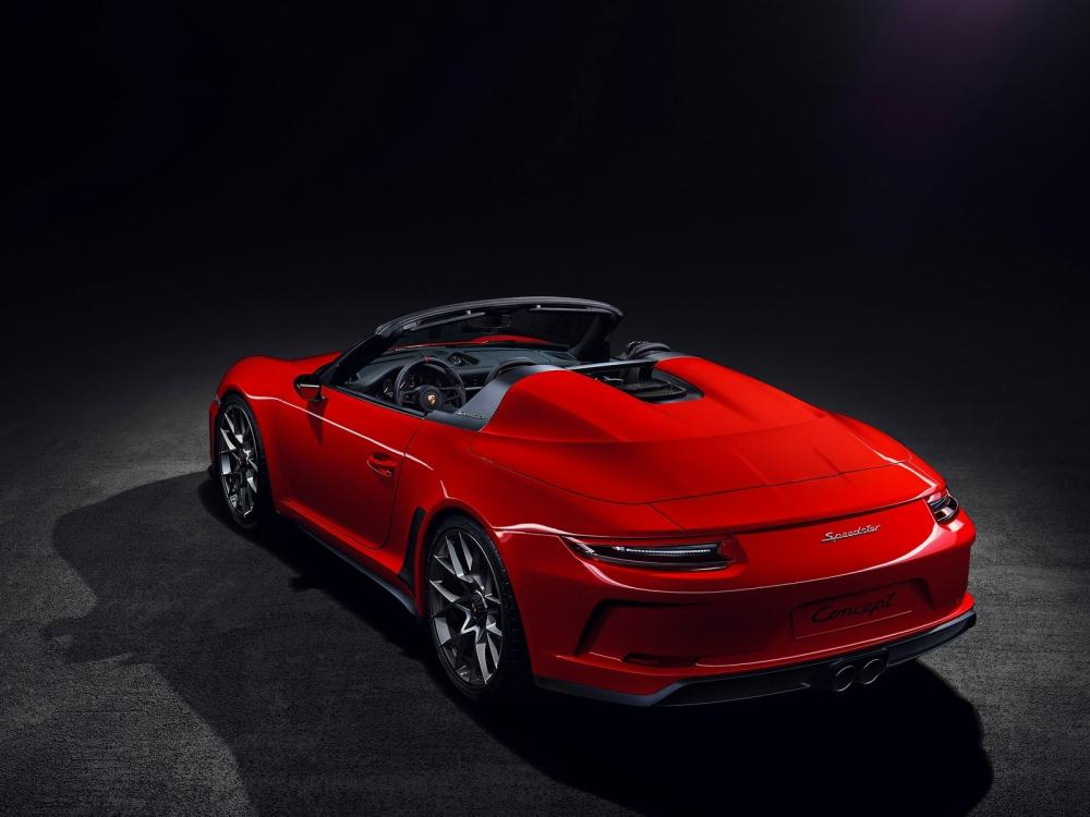 Porsche 911 Speedster de color rojo