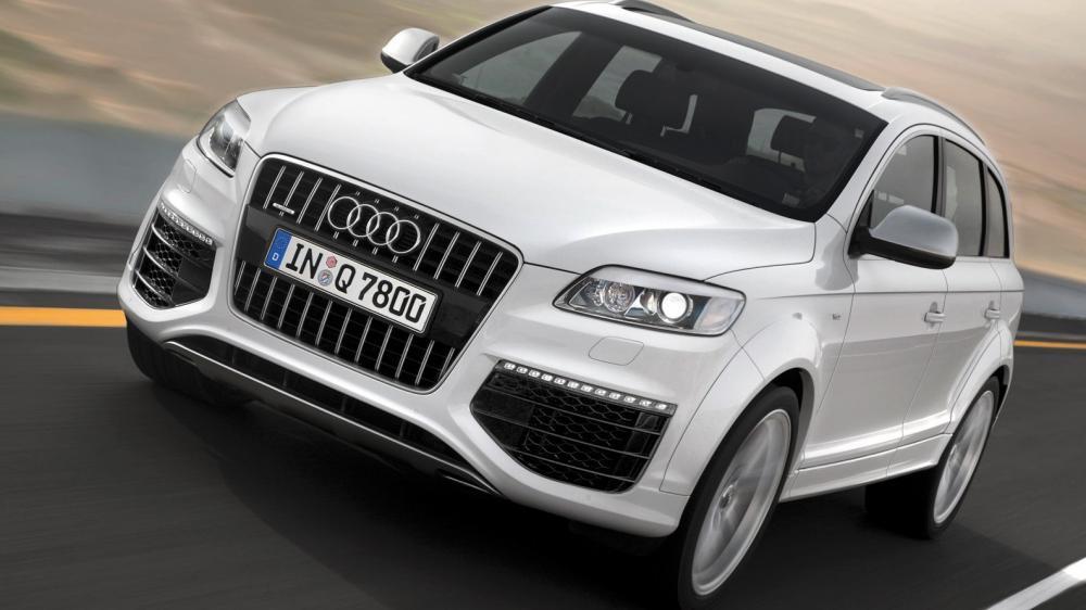 Auto de la marca de autos Audi de color blanco