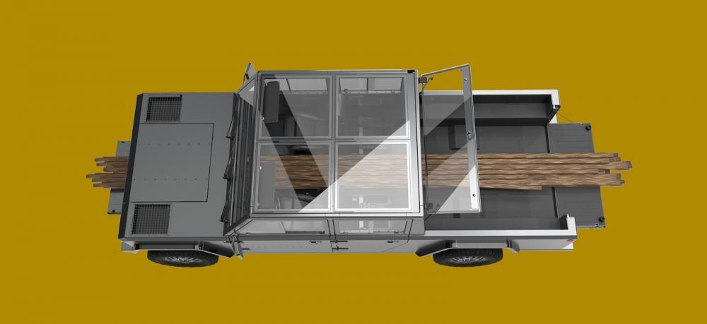 Un espacio único para pasar objetos largos de facia a facia