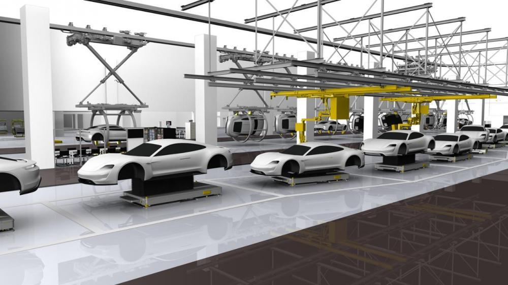 Porsche Taycan color plata