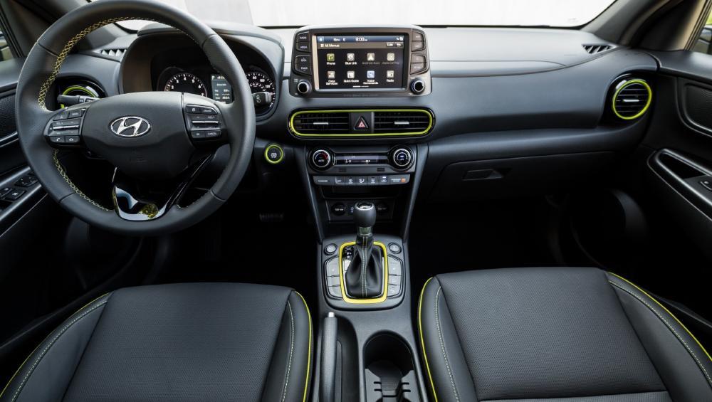 Interior de la Hyundai Kona 2018