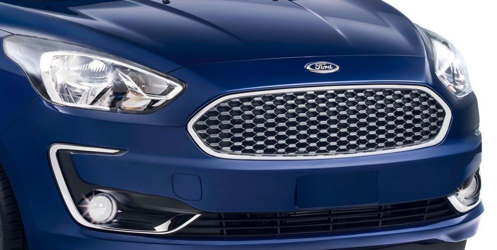 Aspecto frontal con cambios sutiles de ford figo 2019