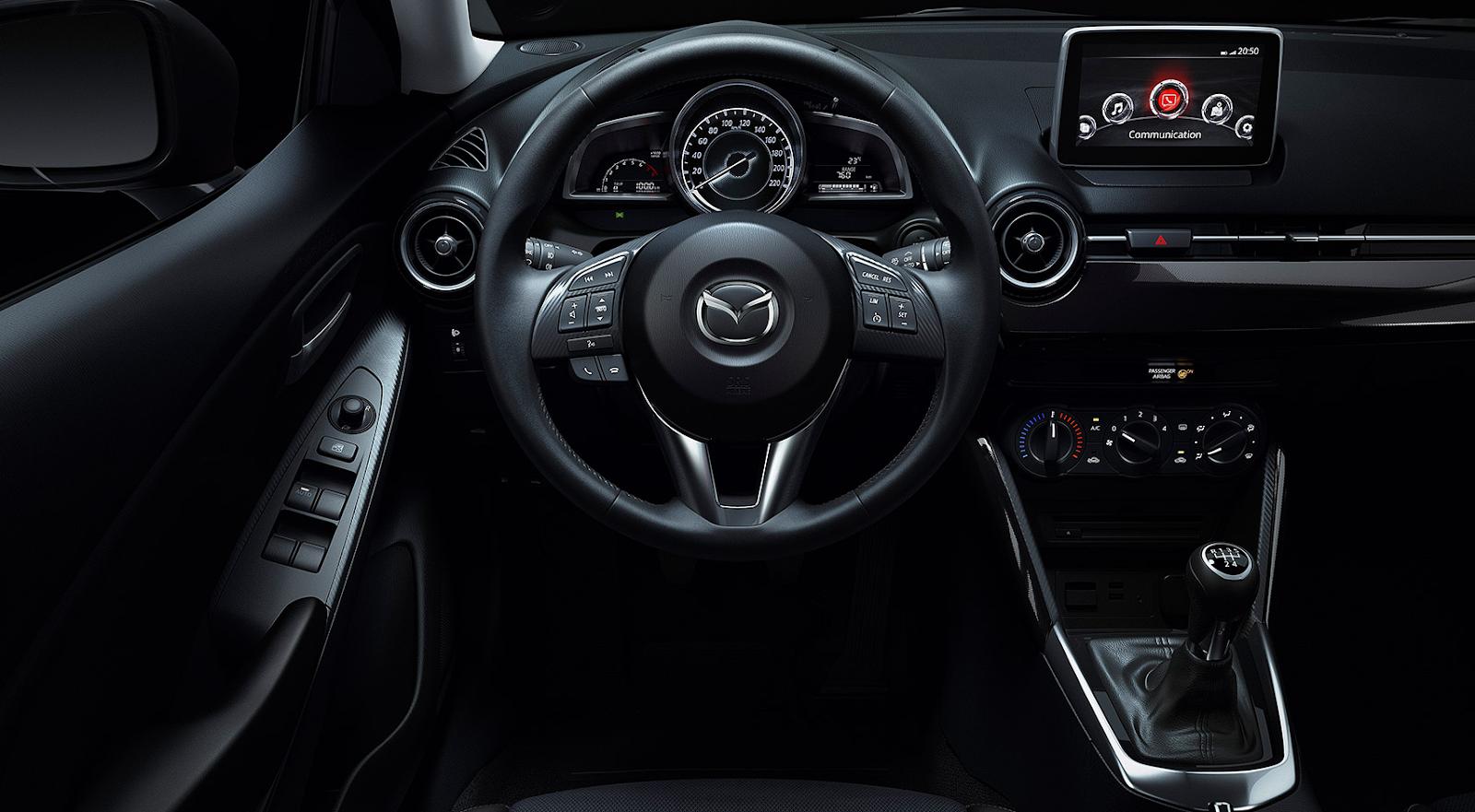 La tecnología Mazda 2 se refleja la seguridad