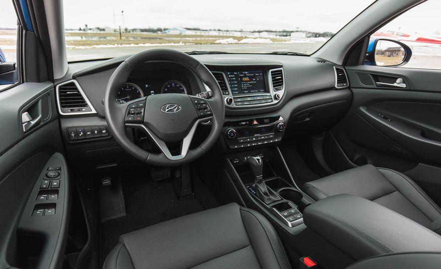 La ventaja de la Hyundai Tucson, es su amplio espacio interior.
