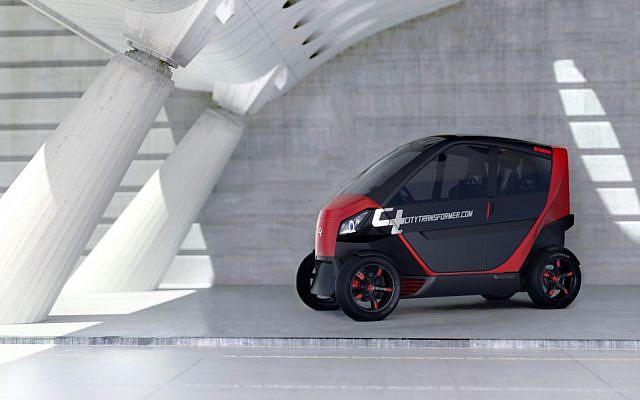El diseño del City Transformer combina lo mejor de los autos y las motocicletas