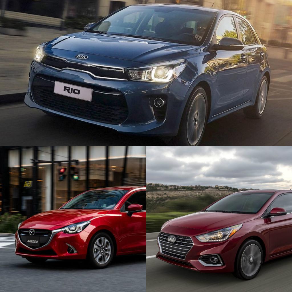 Kia Rio 2018 precio, Mazda 2 2018 precio y Hyundai Accent 2018 precio