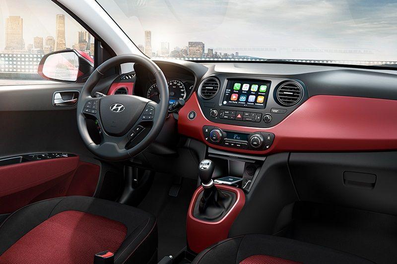 El interior del Hyundai Grand i10 2018 precio es básico