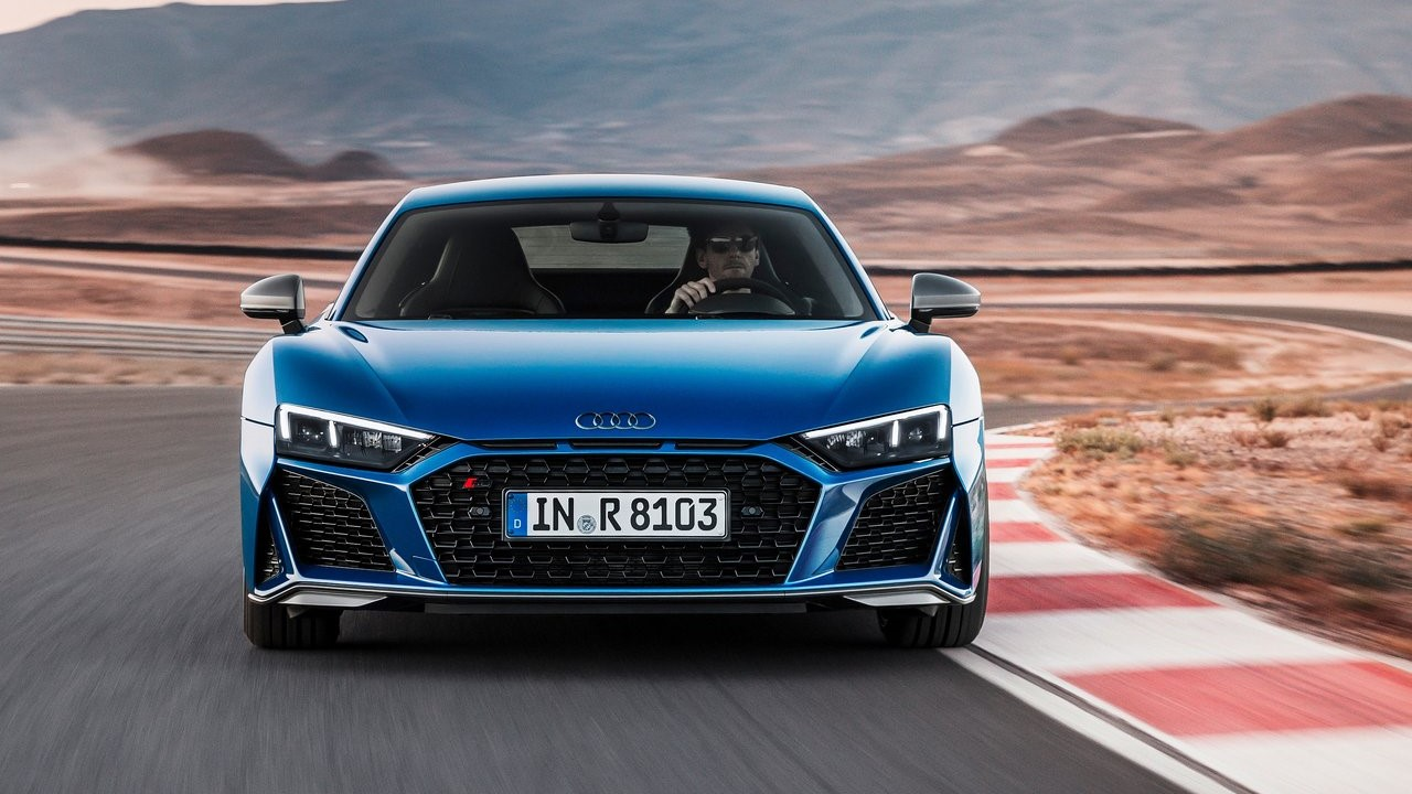 Auto Show de Los Ángeles, Audi de color azul