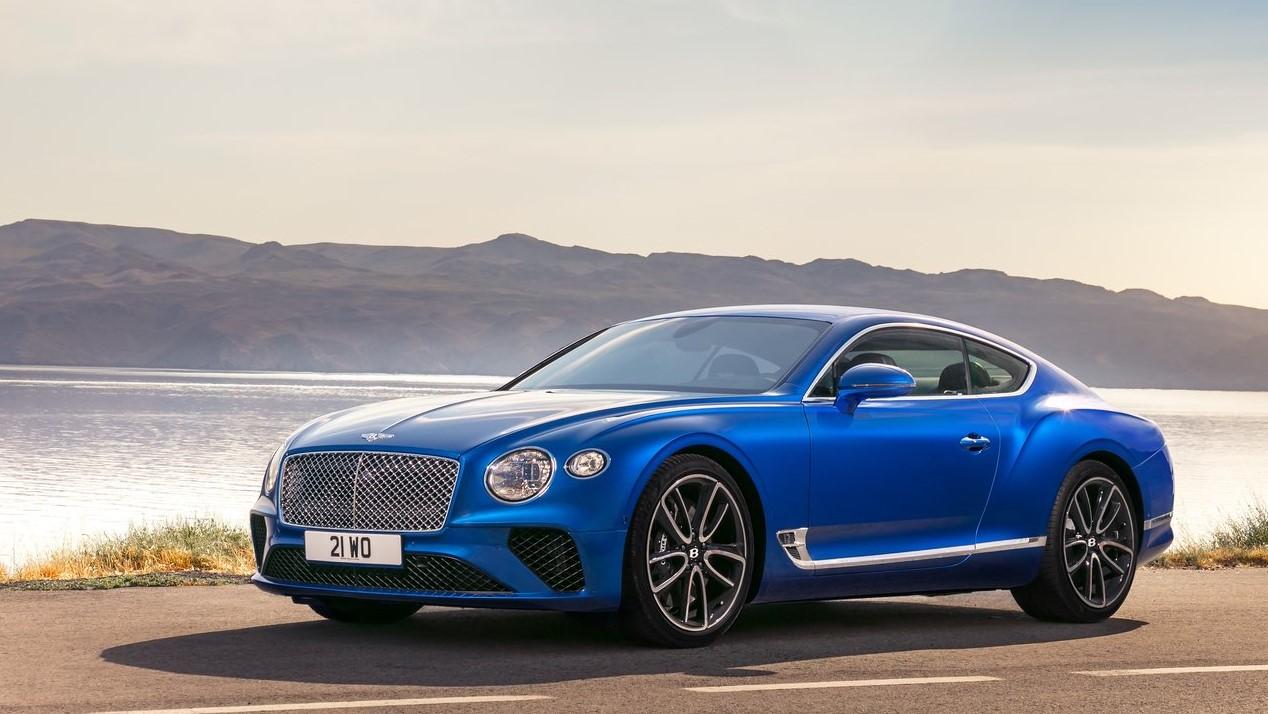 Auto Show de Los Ángeles, Bentley de color azul