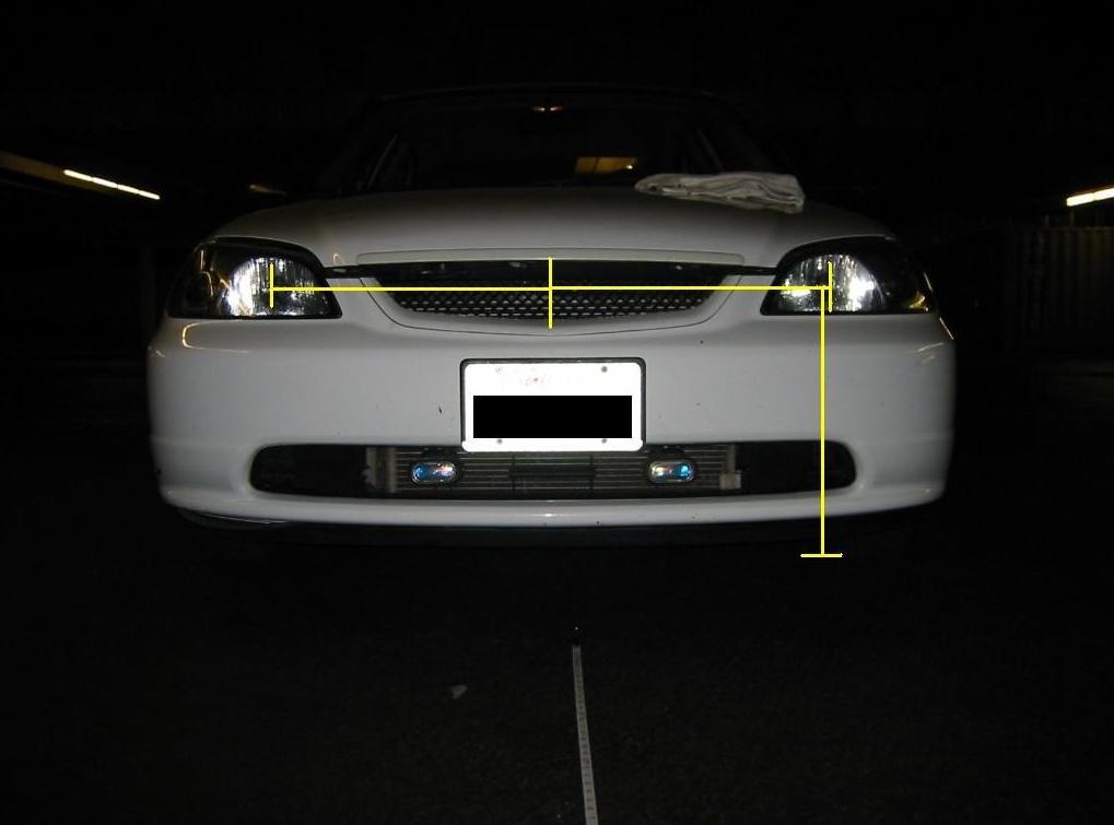 Vista frontal de un auto, Como alinear luces delanteras