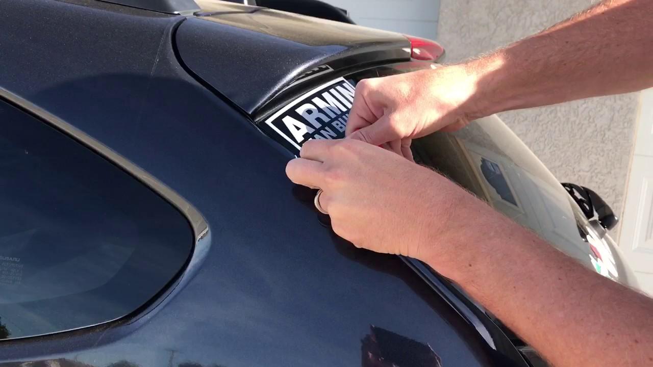 Como quitar calcomanias del carro