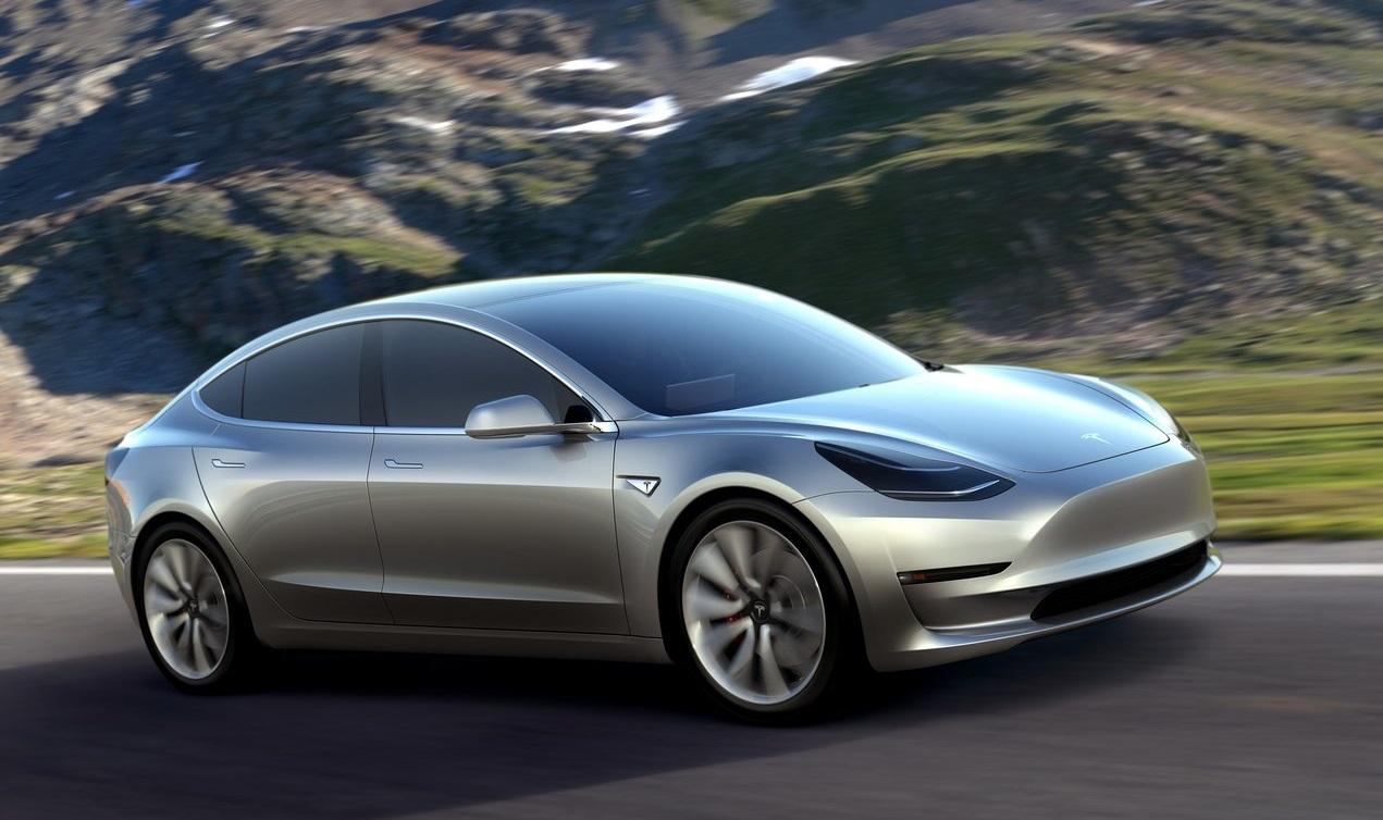 Tesla Model 3 color gris