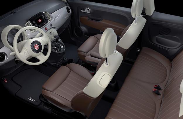 Fiat 500 caracteristicas interiores