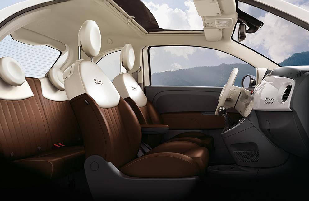Fiat 500 caracteristicas con asientos de piel