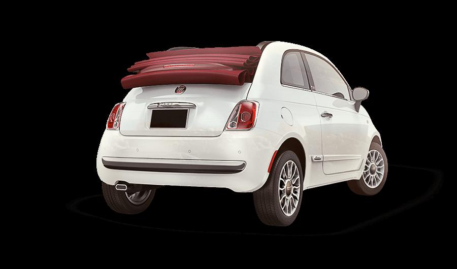 Fiat 500 caracteristicas con vista trasera