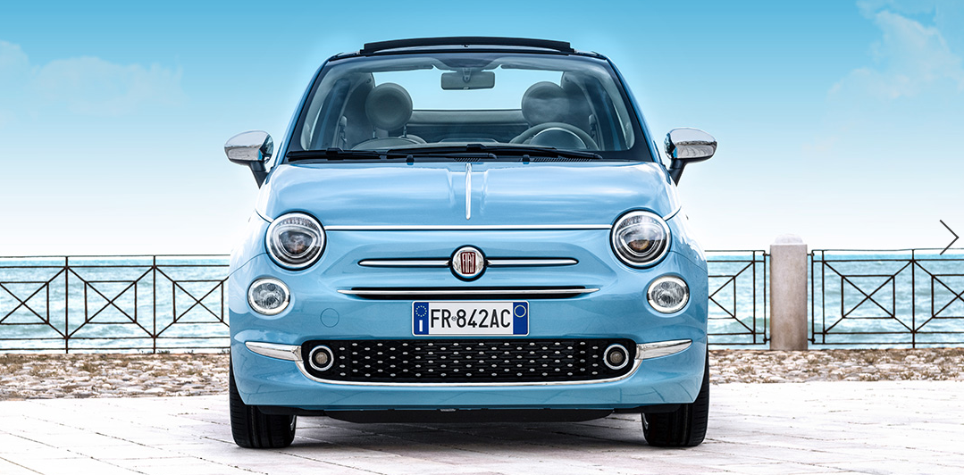 Fiat 500 caracteristicas color azul