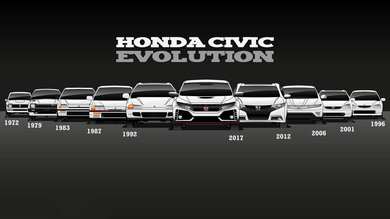 Honda Civic - 10 generaciones desde el lanzamiento