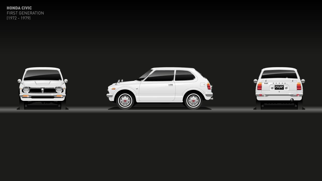 1a generación: 1972-1979 de Honda civic