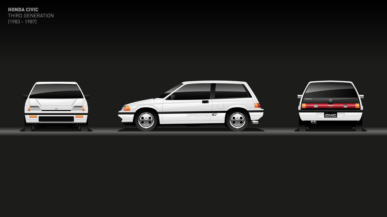 3a generación: 1983-1987 de honda civic
