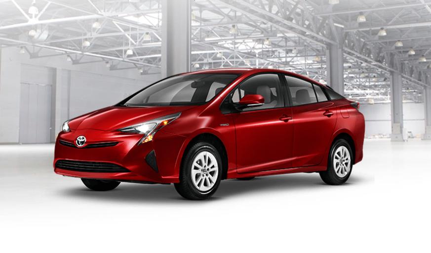 Toyota Prius de color rojo, Autos mas economicos en combustible