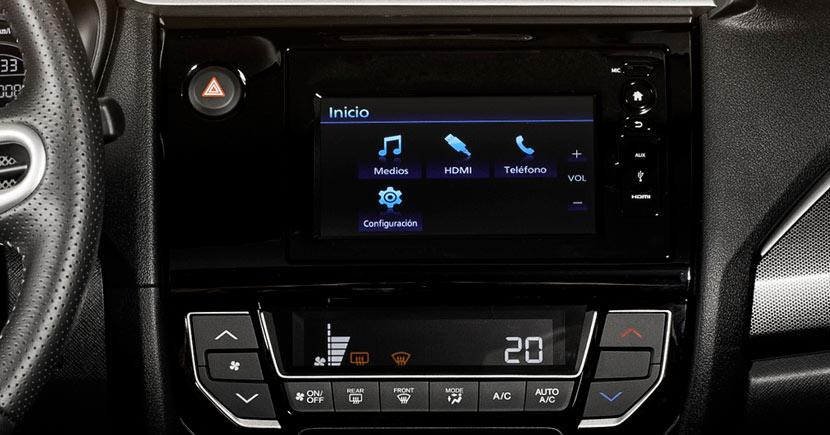 Sistema de entretenimiento de Honda BR-V 2018