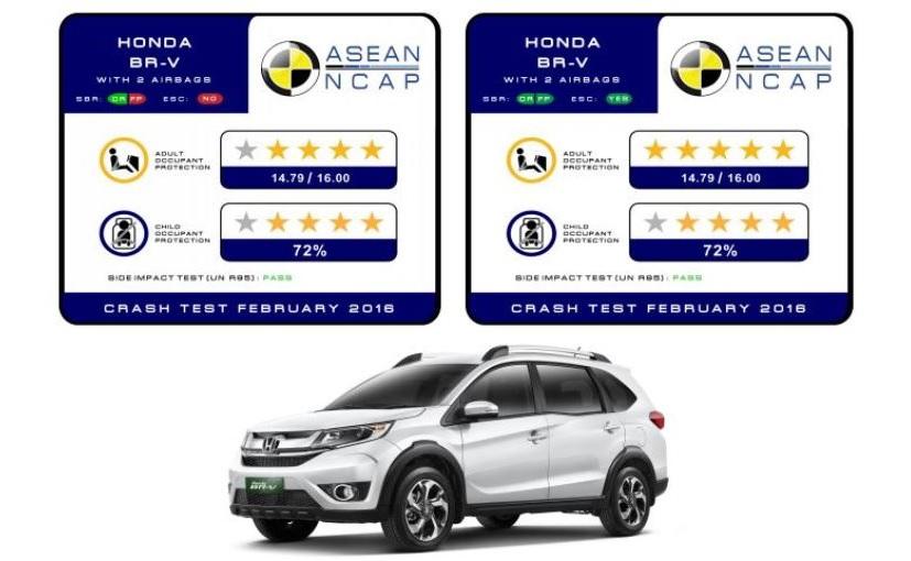 Resultados de seguridad de la Honda BR-V
