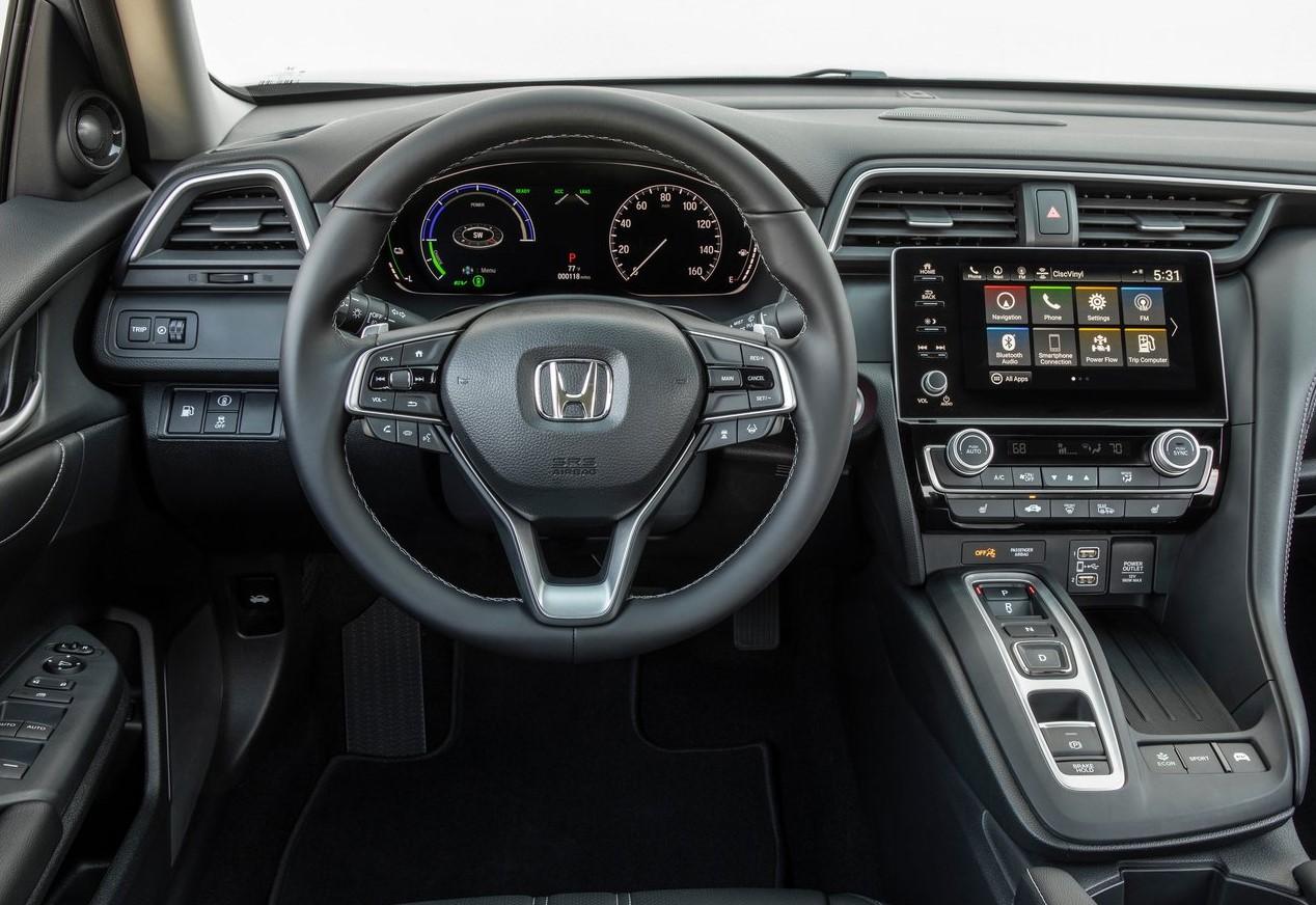 El interior del Honda Insight 2019 tiene detalles de gran lujo y buen diseño