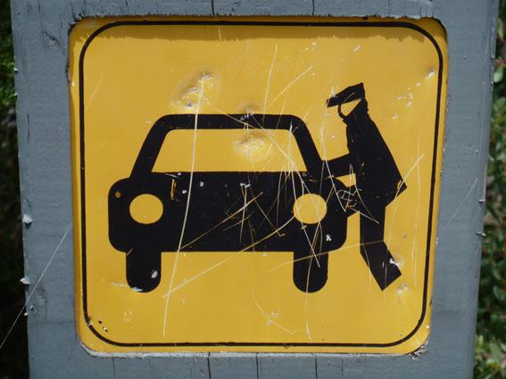 Un placa de evitar robo de autos