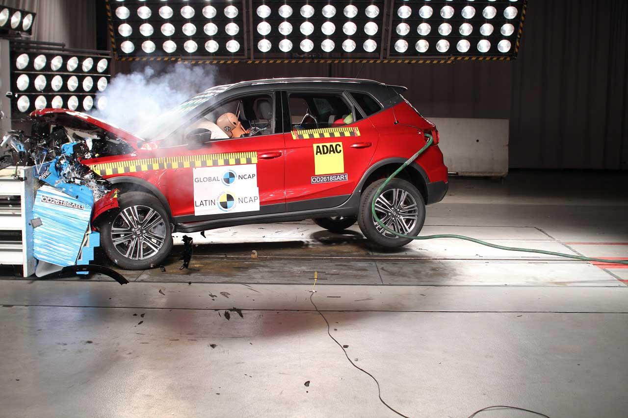 Latin NCAP da 5 estrellas a Ibiza y Arona y 2 al Chevrolet Aveo