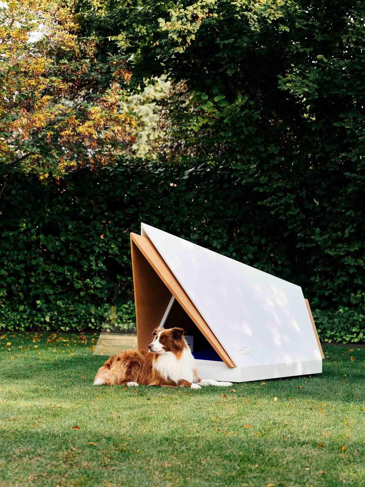 Ford crea una casa para perros con tecnología de cancelación de ruido