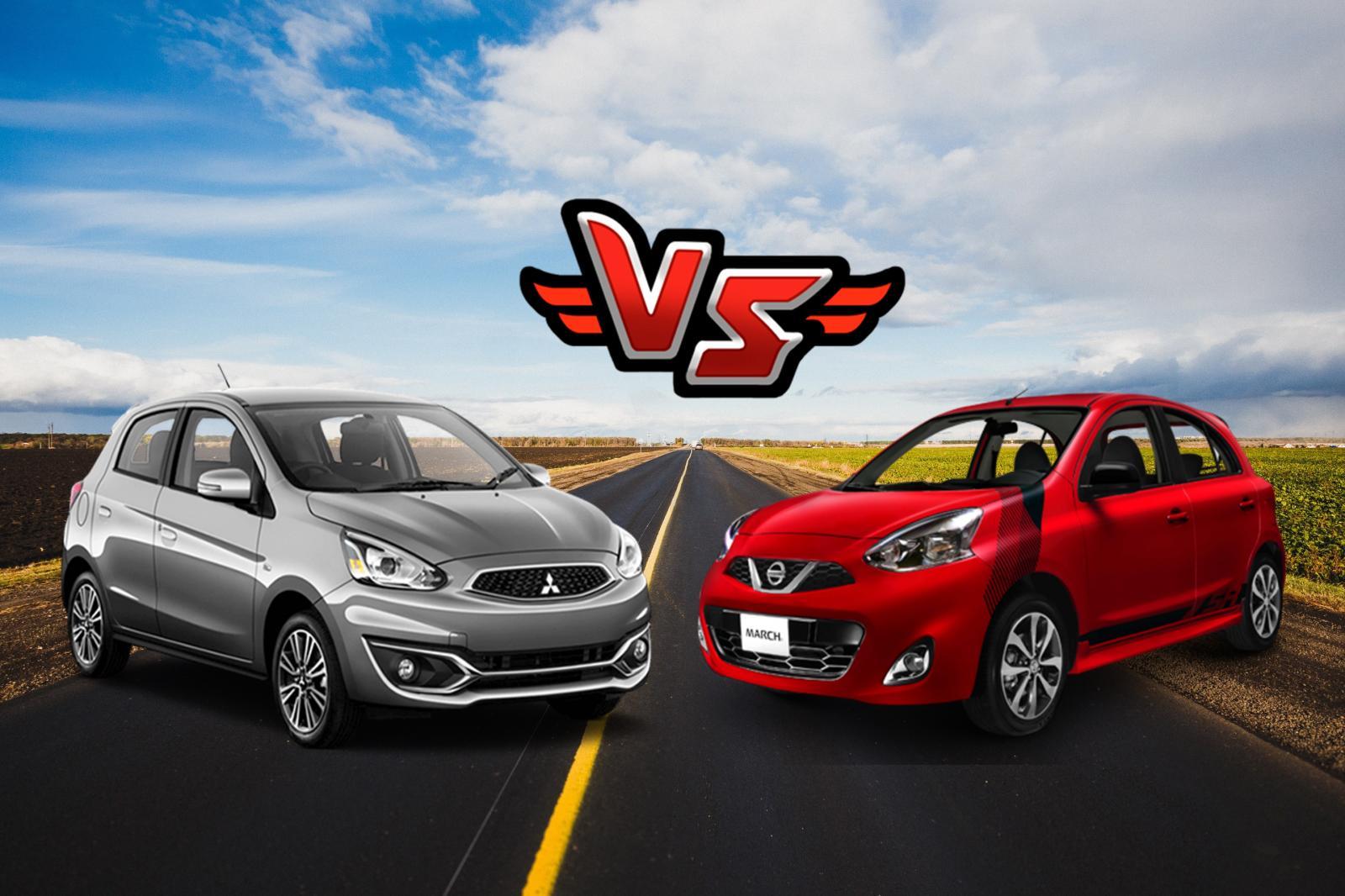 Nissan March 2018 y Mitsubishi Mirage 2018