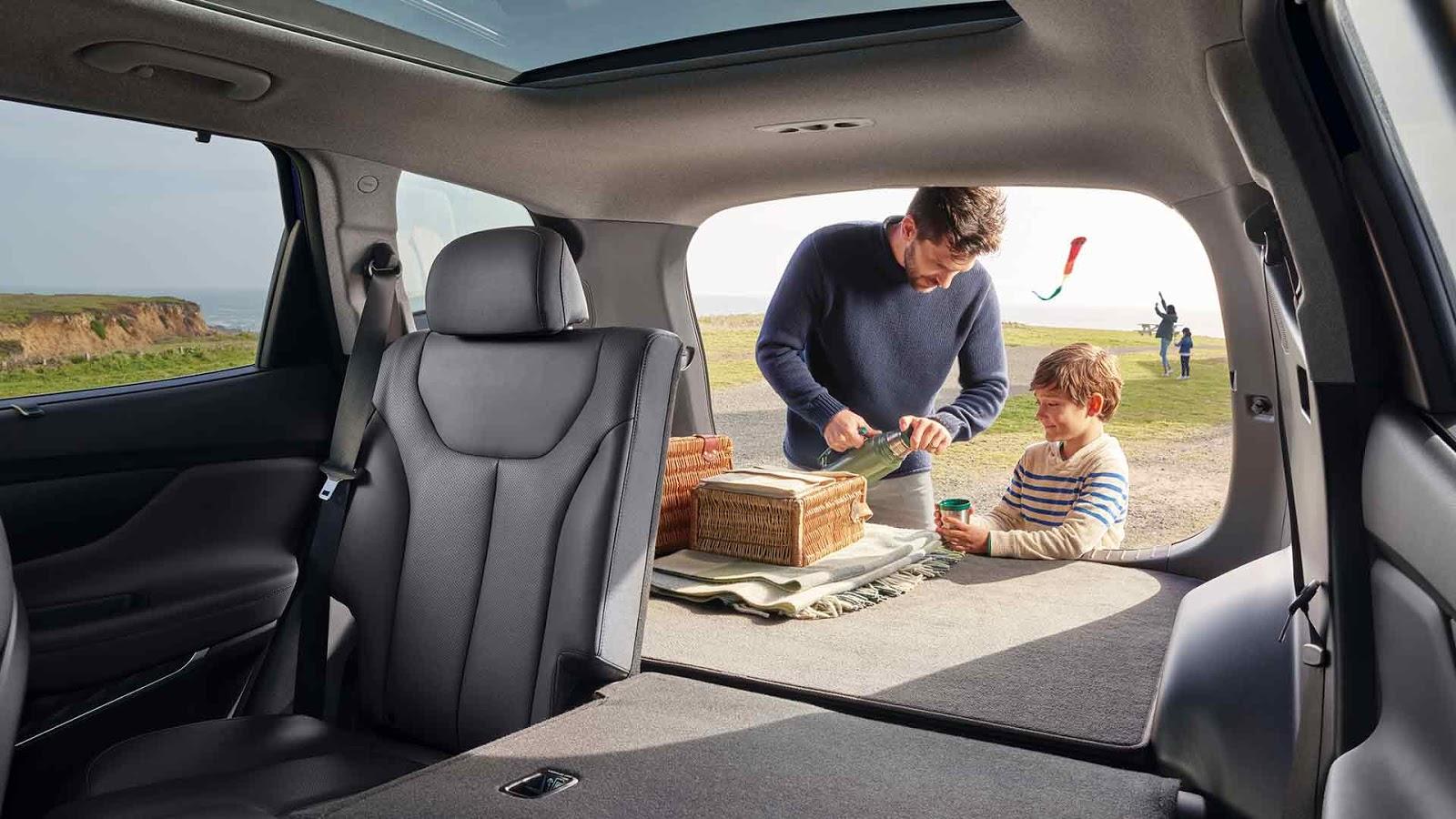 Hyundai Santa Fe 2019 espacio interno