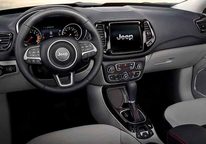 Interior de la Jeep Compass Trailhawk