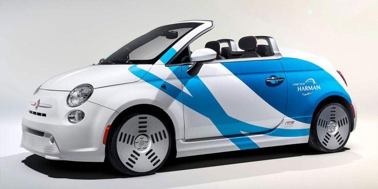 El Fiat 500e ofrece tecnología para conectividad, entretenimiento y conducción autónoma
