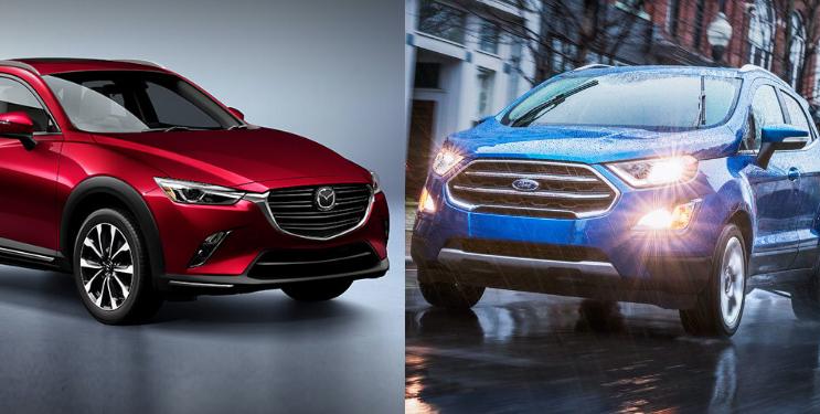Mazda CX-3 2019 i Grand Touring 2WD Vs. Ford EcoSport 2019 Titanium TA