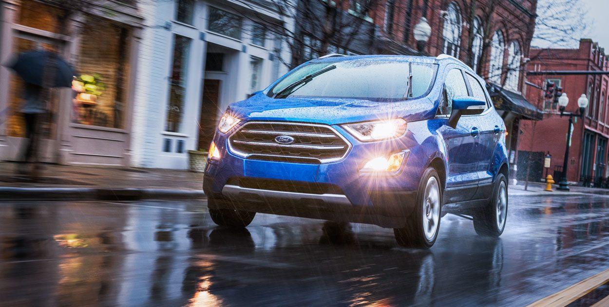 La Ford EcoSport en la lluvia
