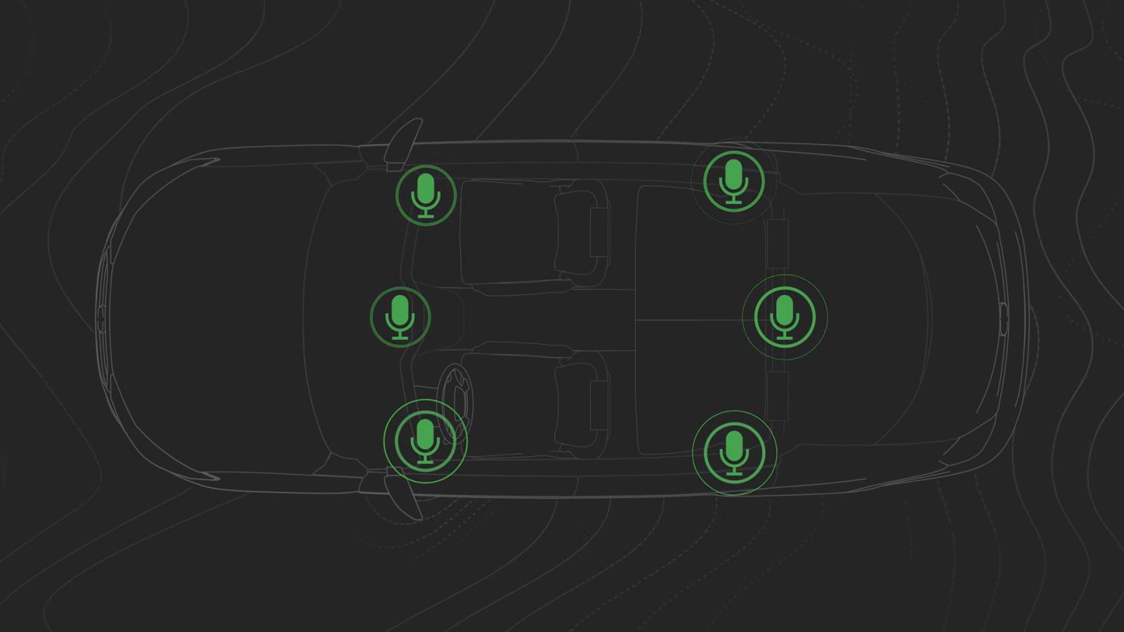 Anula el ruido que procede de los neumáticos