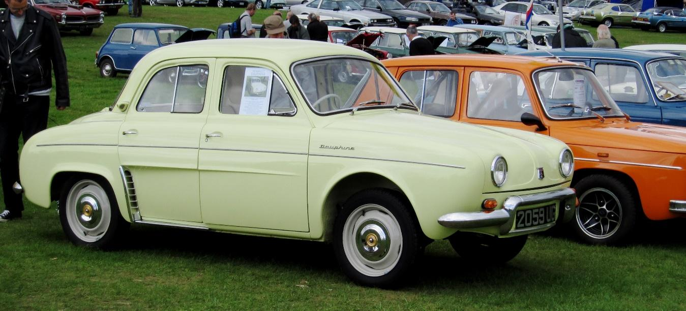 Renault Dauphine de color neón