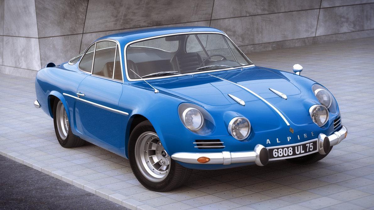 Renault Alpine A110 de 1970 de color azul