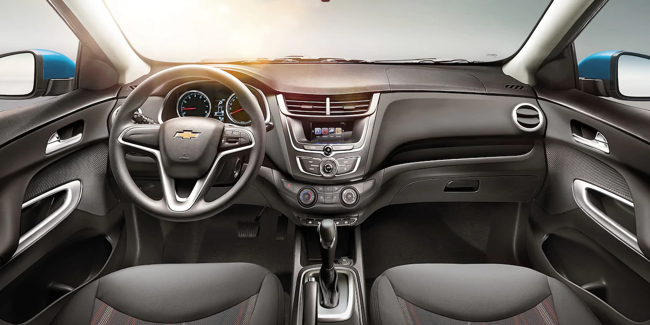 La distribución del espacio en cabina de Chevrolet Aveo 2019 precio en México es reconocible