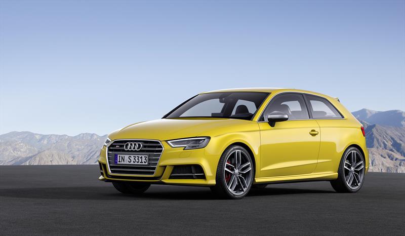 El Audi Serie S3 tiene un motor de 290 caballos de fuerza y 280 lb-pie de torque