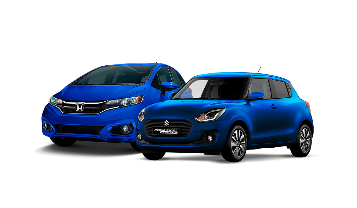 Suzuki Swift 2019 Honda Fit 2019 azul