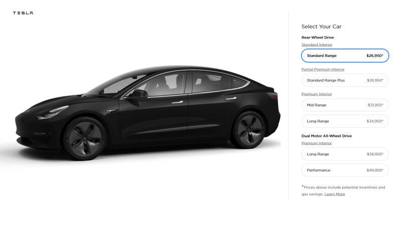 Tesla Model 3 2019